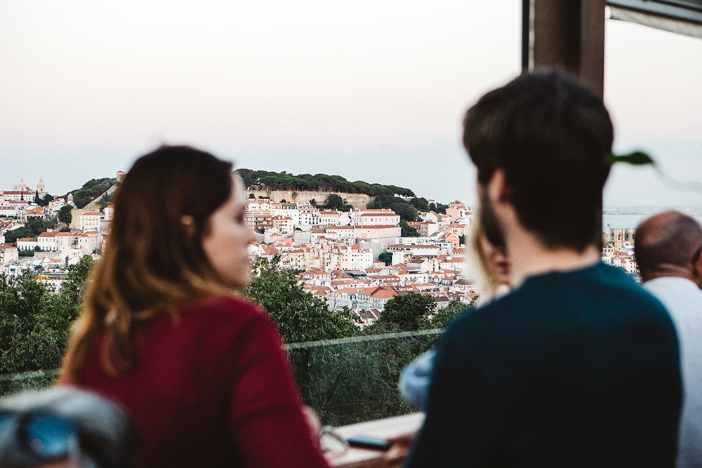 The view at The Insólito Restaurant & Bar in Lisbon