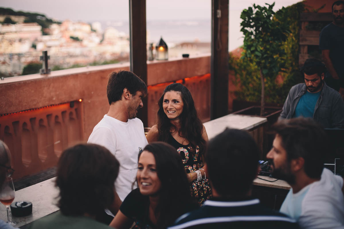 The Insólito's sun terrace, with a magnificent view of the old city and river
